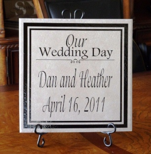 """Our Wedding Day""  Wedding Tile"