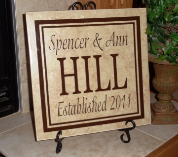 "12""  x 12"" Wedding or Anniversary Tile"