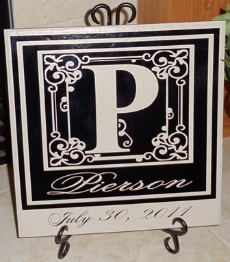 "12"" x 12"" Monogram Tile with Date"