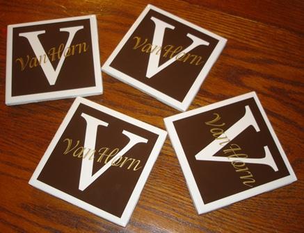"""""""Monogram""""  Coasters"""