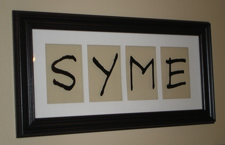 4 Letter Word Picture Frame
