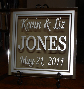 "12"" x 12"" Mirror Wedding Tile"