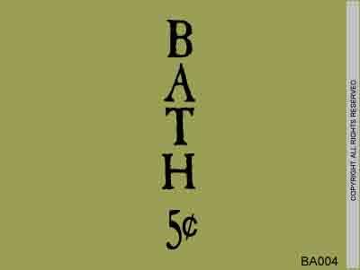Bath 5 cents