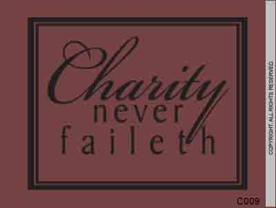 Charity never faileth