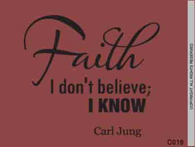 Faith I don't