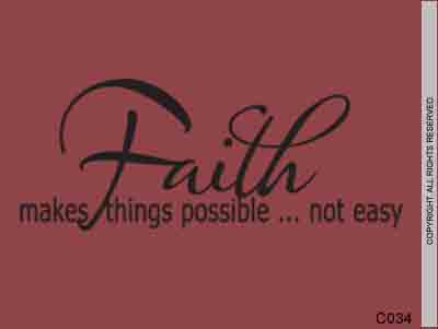 Faith makes