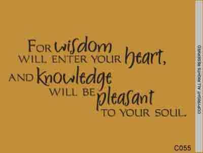 For wisdom
