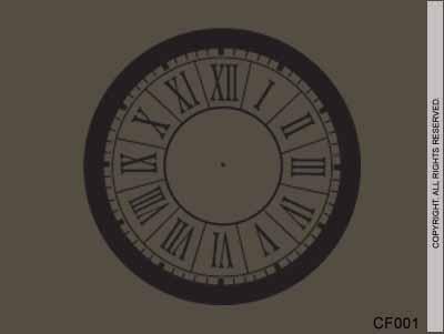 Blocked Roman Number Clock
