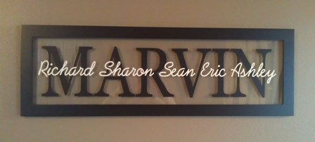 Large LAST NAME Picture Frame