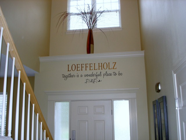 Entry Way Personalized with Last Name