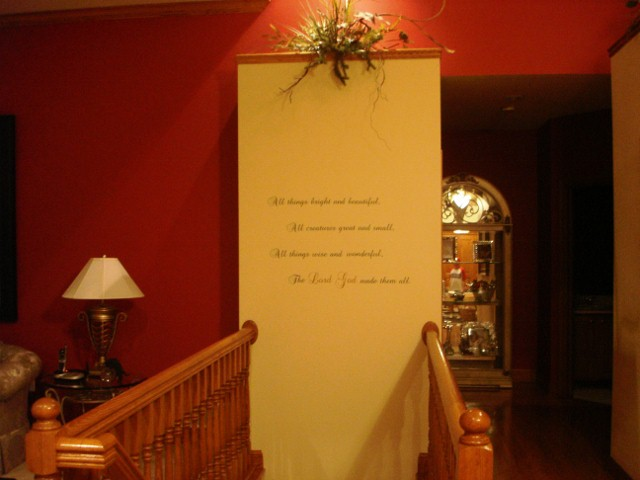 Stair Case Wall Saying