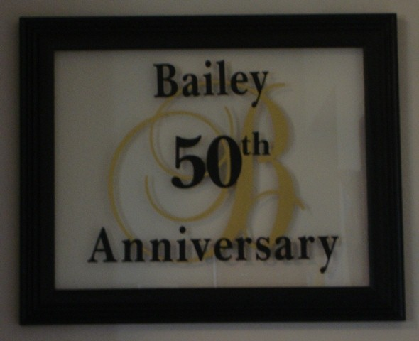 "10"" x 13""    50th Anniversary  Personalized Glass Picture Frame"