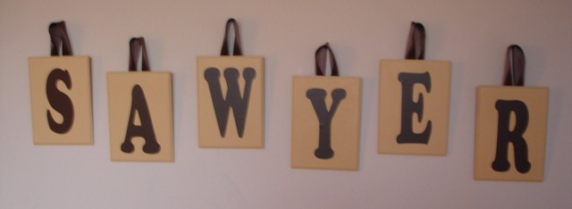 Wood Letter Name Plaques