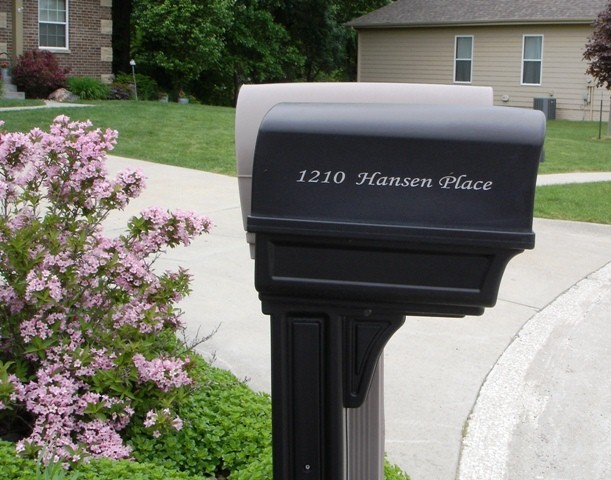 Address on Mailbox