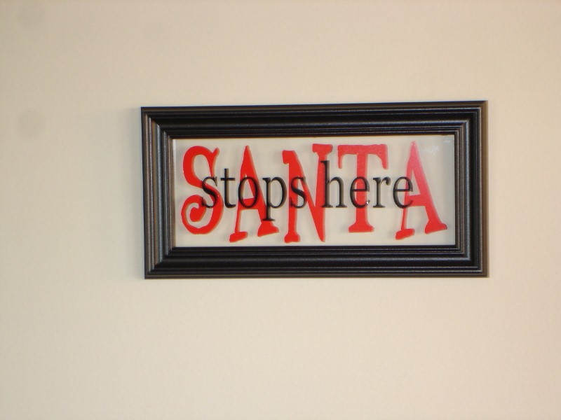 """Santa Stops Here""   Picture Frame"