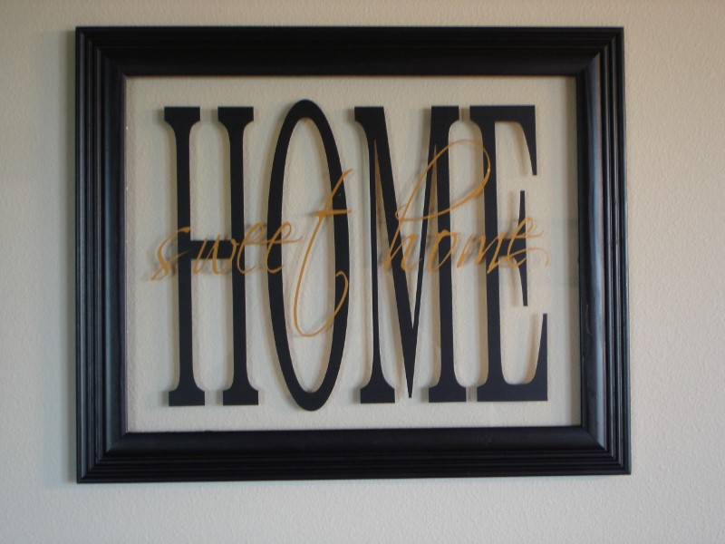 "10"" x 13""  ""Home Sweet Home""  Glass Picture Frame"