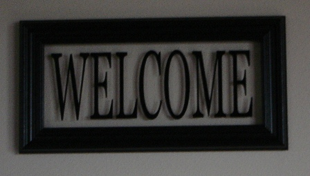 """Welcome"" Picture Frame"