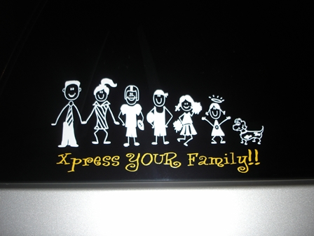 custom family car stickers