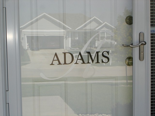 Front Door Initial and Name