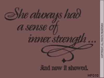 She always
