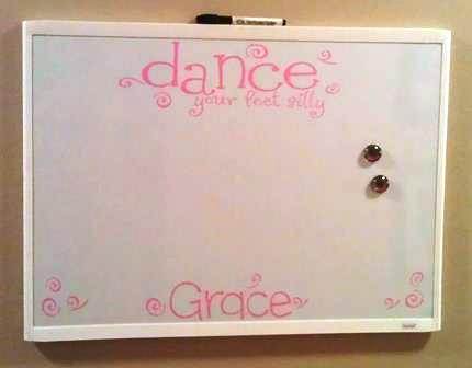 Custom Lettering and Designs on Dry Erase Board