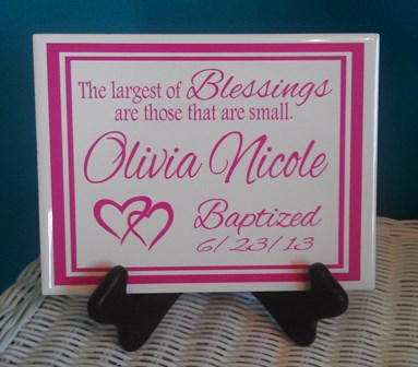 Custom Baby Girl Tile
