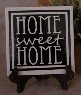 "6"" x 6""  Home Sweet Home  tile"