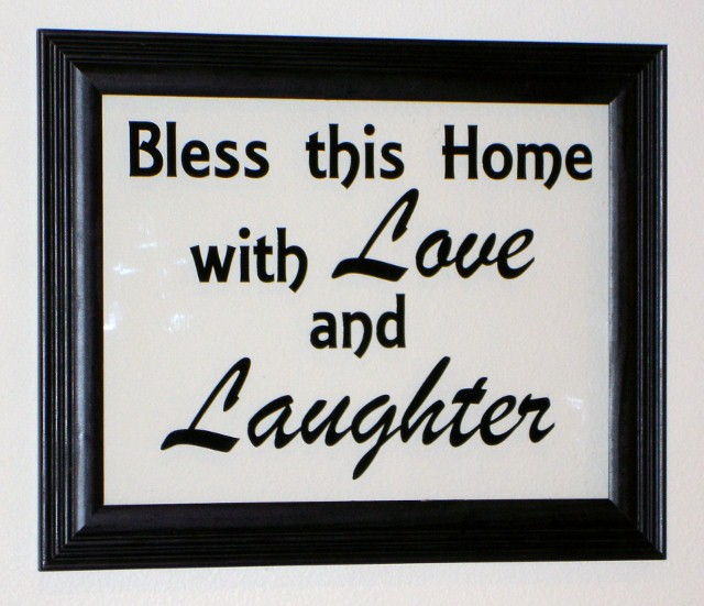 """Bless this home with Love and Laughter""  Picture Frame"