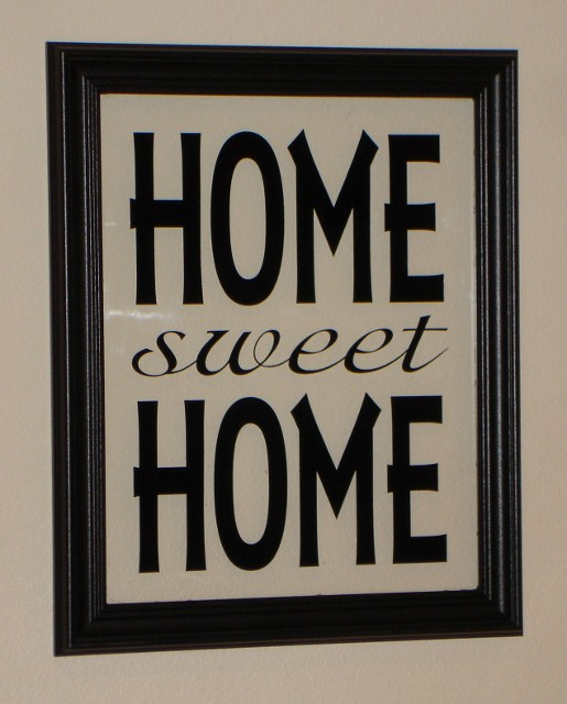 """HOME SWEET HOME""  Picture Frame"