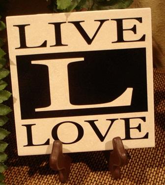 "6"" x 6""  LIVE LOVE tile"