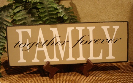 """FAMILY""  together forever  wood board"