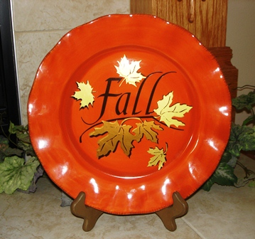 Fall Glass Plate