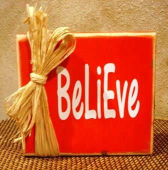"""Believe"" Christmas block"