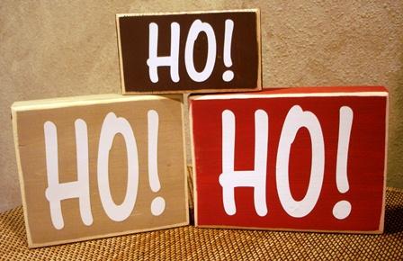 """""""Ho Ho Ho""""  blocks"""