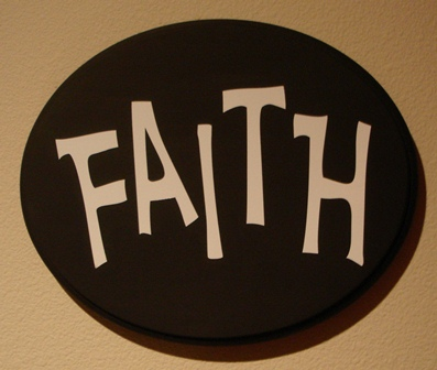 """FAITH""  wooden wall plaque"