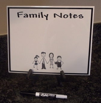 "8"" x 10"" Personalized ""FAMILY"" Dry Erase Note Board"