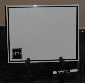 Monogram Dry Erase Board