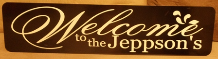 """WELCOME"" Metal Sign"