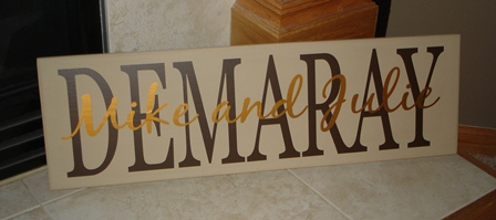 Family Name Plaque