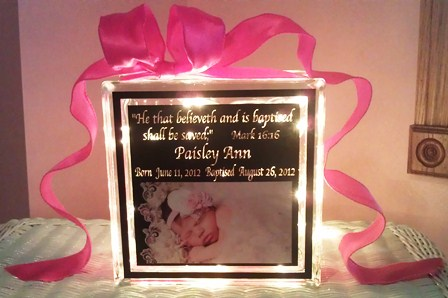 Baby glass block baby gift baby gift ideas personalized baby baby glass block negle