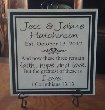 1 Corinthians Wedding Tile