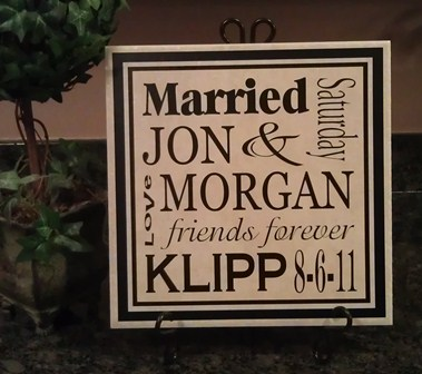 SUBWAY ART Wedding Tile