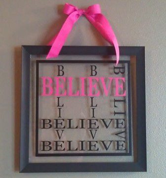 BELIEVE Square Picture Frame