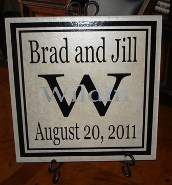 "12"" x 12"" Wedding Tile"