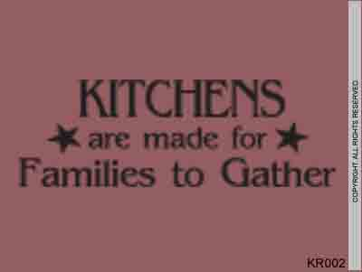 Kitchens are