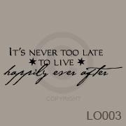 It's never