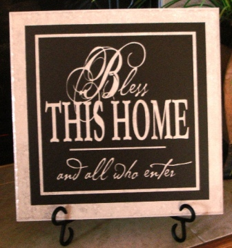 "12"" x 12""  Bless this Home Tile"