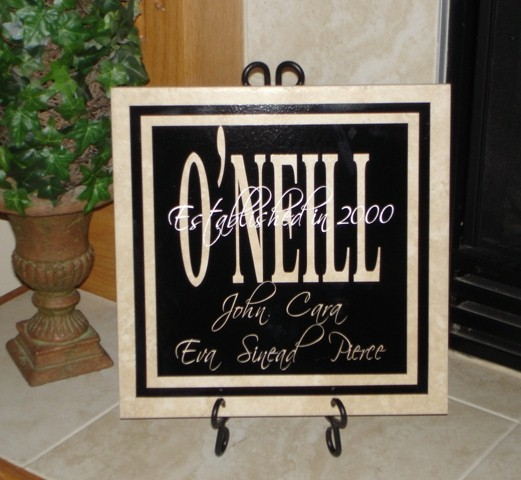 "12"" x 12"" Personalized Name Tile"