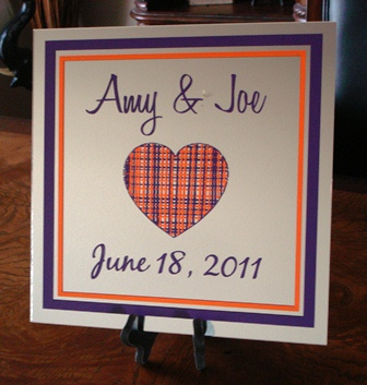 "12"" x 12""  Heart  Wedding  Mirror Tile"