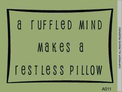 A ruffled